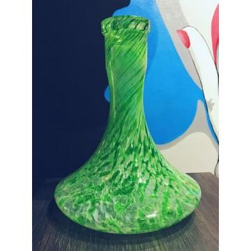 Колба для кальяна (с зелено белыми разводами)