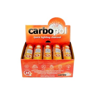 Уголь саморазжигающийся Carbopol 35 mm - 10 шт