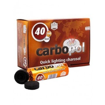 Уголь саморазжигающийся Carbopol 40 mm - 10 шт